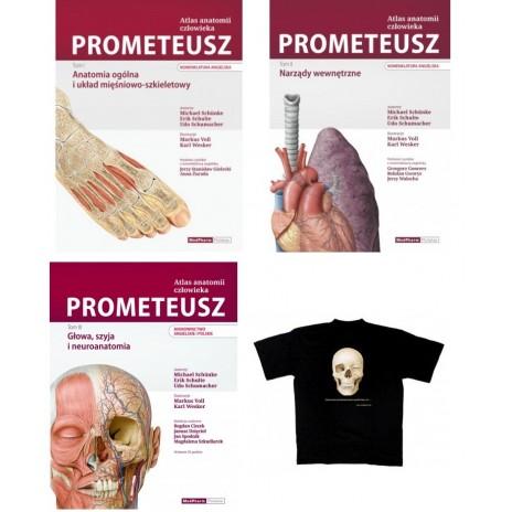 Pakiet: Atlas Anatomii Prometeusz - (3 tomy). Mianownictwo angielskie i polskie